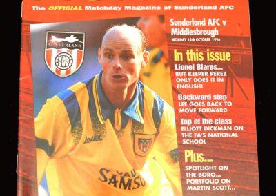 Middlesbrough v Sunderland 14.10.1996