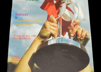 Wolves v Burnley 29.05.1988 - FA Trophy Final