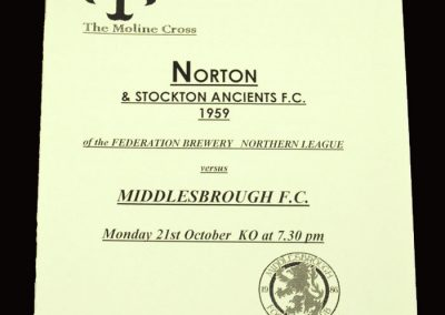 Norton and Stokton Ancients v Middlesbrough 21.10.1996