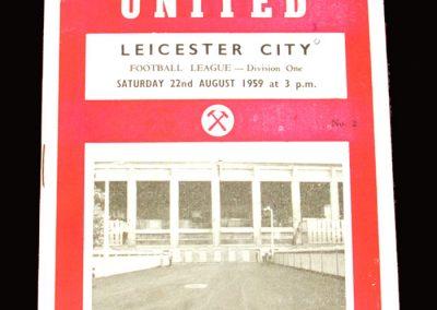West Ham v Leicester 22.08.1959 (departure pf George Fenn)