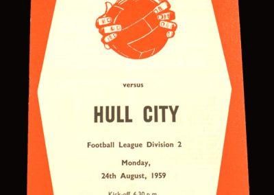 Sheff Utd v Hull 24.08.1959