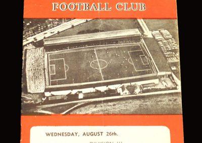 Swindon v Barnsley 26.08.1959