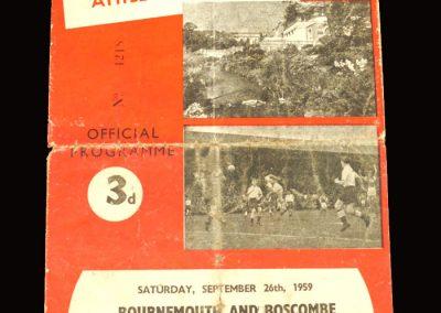 Bournemouth v Bradford City 26.09.1959