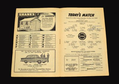 Coventry v Bournemouth 03.10.1959