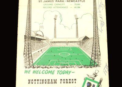 Newcastle v Notts Forest 10.10.1959