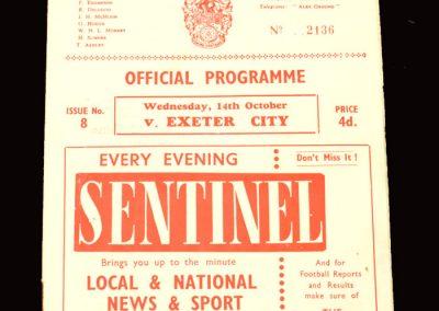 Crewer v Exeter 14.10.1959