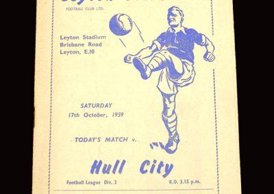 Leyton Orient v Hull 17.10.1959