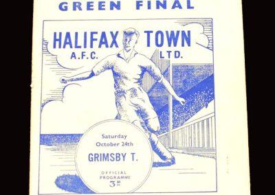 Halifax v Grimsby 24.10.1959