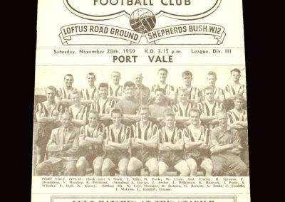 QPR v Port Vale 28.11.1959