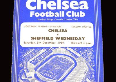 Chelsea v Sheff Wed 05.12.1959