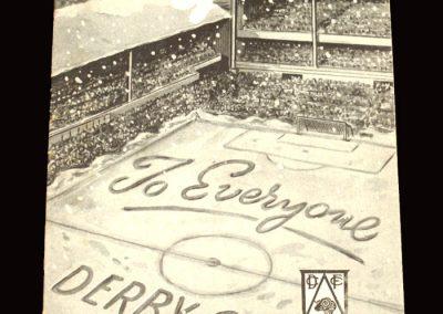 Derby v Sheff Utd 19.12.1959