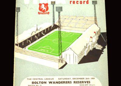 Aston Villa Reserves v Bolton Reserves 26.12.1959   Aston Villa v Hull 28.12.1959