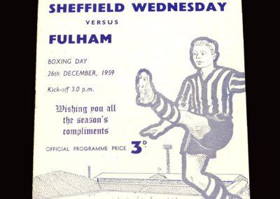 Sheff Wed v Fulham 26.12.1959
