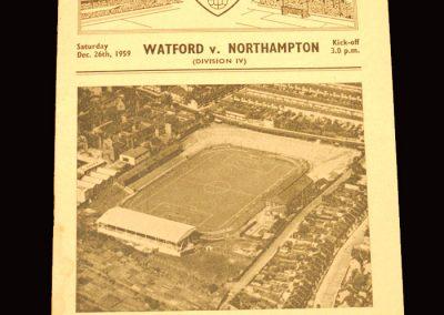 Watford v Northampton 26.12.1959