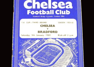 Chelsea v Bradford 09.01.1960 - FA Cup 3rd Round