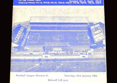 Cardiff v Scunthorpe 23.01.1960