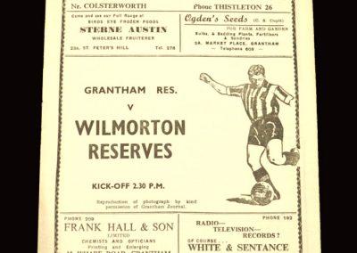 Granthem Reserves v Wilmorton Reserves 30.01.1960