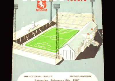 Aston Villa v Huddersfield 06.02.1960