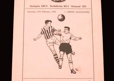 Darlington v Crewe 27.02.1960