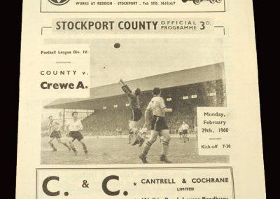Stockport v Crewe 29.02.1960