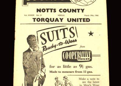 Notts County v Torquay 19.03.1960