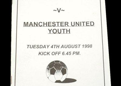Man Utd Youth v Upton 04.08.1998