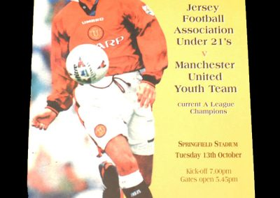 Man Utd Youth v Jersey U21 13.10.1998