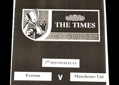 Man Utd Youth v Everton Youth 06.01.1999 - FA Youth Cup 3rd Round Replay