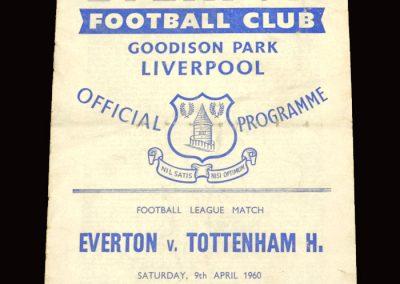 Everton v Spurs 09.04.1960