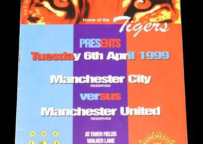Man Utd v Man City 06.04.1999 - Manchester Senior Cup