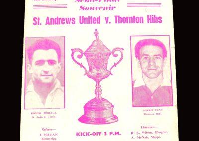 St Andrews v Thornton 16.04.1960 - Scottish Junior Cup Semi Final