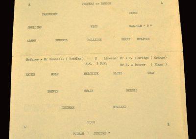 Bexleyheath Juniors v Fulham Juniors 16.04.1960