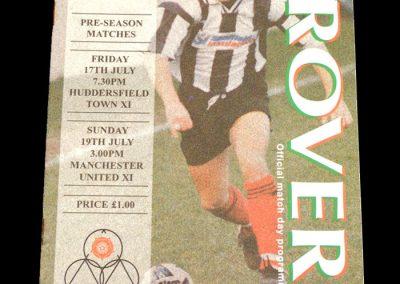 Man Utd v Forest Green 19.07.1998 - Friendly