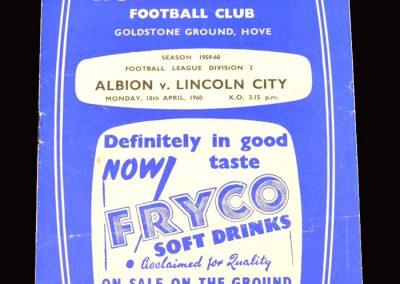 Brighton v Lincoln 18.04.1960