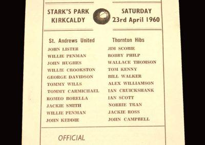 St Andrews v Thornton 23.04.1960 - Scottish Junior Cup Semi Final