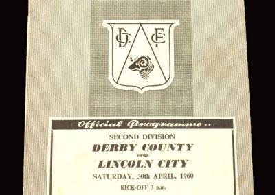 Derby v Lincoln 30.04.1960