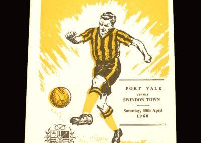 Port Vale v Swindon 30.04.1960