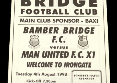 Man Utd v Bamber Bridge 04.08.1998 - Friendly