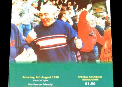 Man Utd v Bromsgrove Rovers 08.08.1998 - Friendly