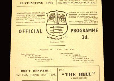 Leytonstone v Kingstonian 07.05.1960