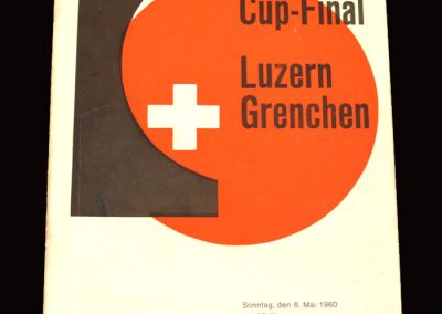 Lucerne v Grenchen 08.05.1960 - Swiss Cup Final