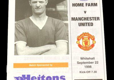 Man Utd v Home Farm 22.09.1998 - Friendly
