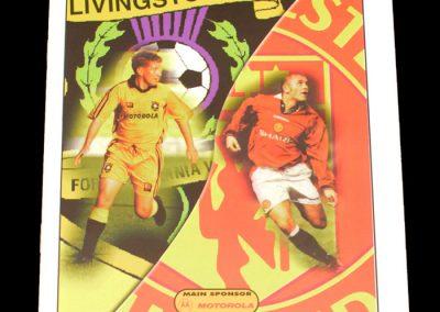 Man Utd v Livingston 27.10.1998 - Friendly