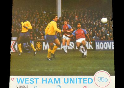 Everton v West Ham 02.01.1982 - FA Cup 3rd Round