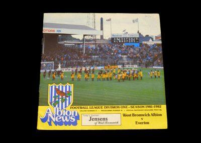 Everton v West Brom 20.02.1982