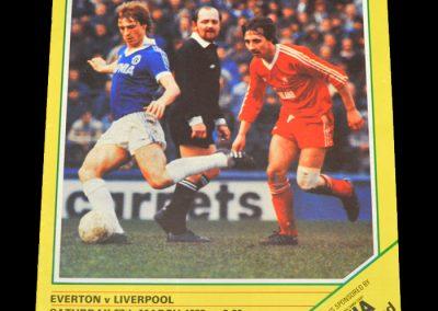 Everton v Liverpool 27.03.1982