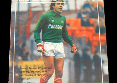 Everton v Notts Forest 03.04.1982