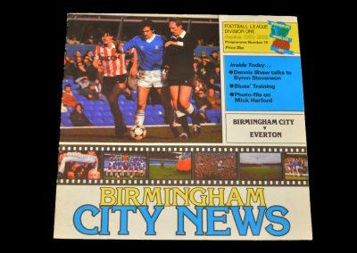 Everton v Birmingham 06.04.1982