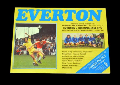 Everton v Birmingham 29.08.1981