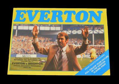 Everton v Brighton 12.09.1981